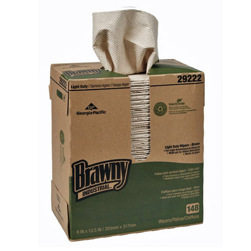 Brawny Industrial Light Duty 2Ply Paper Wipers SKU#GPC29222, Georgia Pacific Brawny Industrial Light Duty 2Ply Paper Wipers SKU#GPC29222