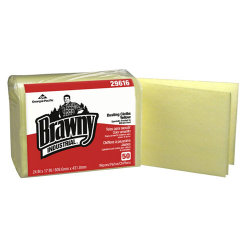Brawny Industrial Dusting Cloths QuarterFold SKU#GPC29616, Georgia Pacific Brawny Industrial Dusting Cloths QuarterFold SKU#GPC29616