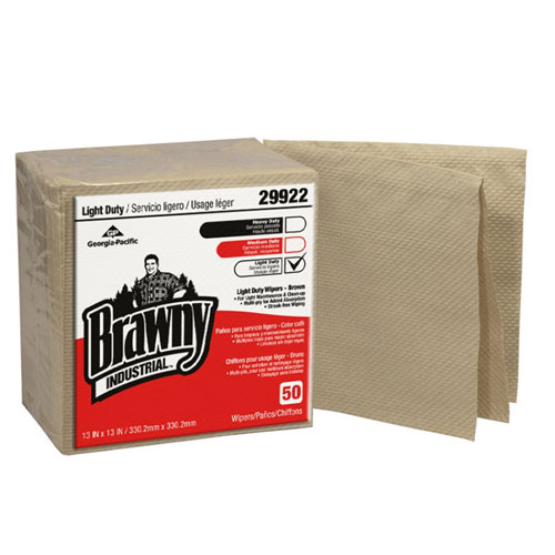 Brawny Industrial Light Duty Wipers Paper 3Ply QuarterFold SKU#GPC29922, Georgia Pacific Brawny Industrial Light Duty Wipers Paper 3Ply QuarterFold SKU#GPC29922