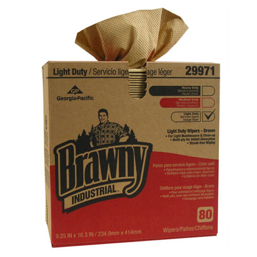 Brawny Industrial Light Duty 3Ply Paper Wipers Paper SKU#GPC29971, Georgia Pacific Brawny Industrial Light Duty 3Ply Paper Wipers Paper SKU#GPC29971