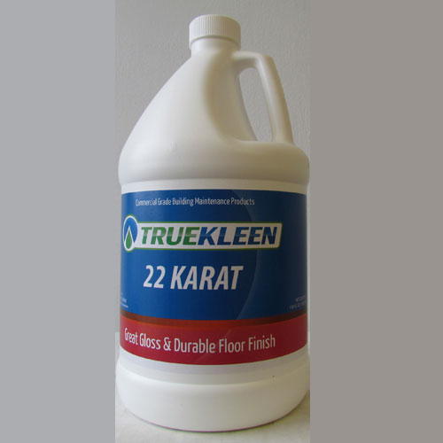 TrueKleen 22 Karat Acrylic Floor Finish 1 Gallon SKU#22KGL, Bullen TrueKleen 22 Karat Acrylic Floor Finish 1 Gallon SKU#22KGL