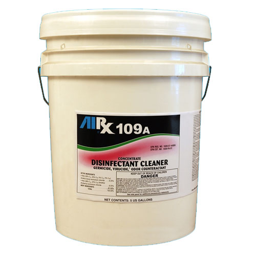 AIRX RX109A Hospital Disinfectant Virucidal Cleaner 5 Gallon SKU#RX109A-5G, Bullen AIRX RX109A Hospital Disinfectant Virucidal Cleaner 5 Gallon SKU#RX109A-5G