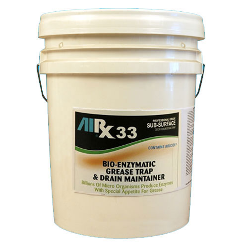 AIRX RX33 Bio-Enzymatic Grease Trap & Drain Treatment 5 Gallon SKU#RX33-5G, Bullen AIRX RX33 Bio-Enzymatic Grease Trap & Drain Treatment 5 Gallon SKU#RX33-5G