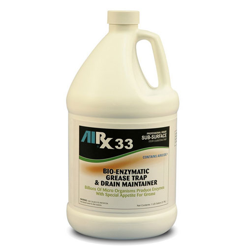 AIRX RX33 Bio-Enzymatic Grease Trap & Drain Treatment Gallons SKU#RX33-4G, Bullen AIRX RX 33 Bio-Enzymatic Grease Trap & Drain Treatment Gallons SKU#RX33-4G