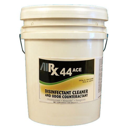 AIRX RX44 ACE Neutral Disinfectant Cleaner Odor Counteractant 5 Gallon SKU#RX44ACE-5G, Bullen AIRX RX44 ACE Neutral Disinfectant Cleaner Odor Counteractant 5 Gallon SKU#RX44ACE-5G