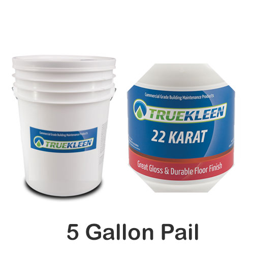 TrueKleen 22 Karat Acrylic Floor Finish 5 Gallon SKU#TK-22K-5G, Bullen TrueKleen 22 Karat Acrylic Floor Finish 5 Gallon SKU#TK-22K-5G