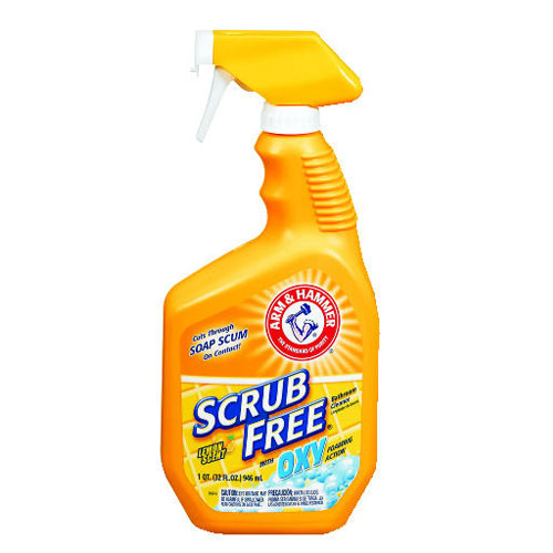 Scrub-Free Soap Scum Remover Lemon 32oz Spray Bottle SKU#CDC33200-35255, ARM & HAMMER Scrub-Free Soap Scum Remover Lemon 32oz Spray Bottle SKU#CDC33200-35255
