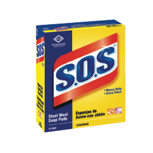 Clorox SOS Steel Wool Soap Pad SKU#CLO88320CT, Clorox SOS Steel Wool Soap Pads SKU#CLO88320CT