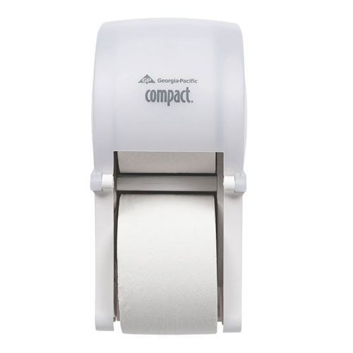 Compact Vertical 2 Roll Toilet Roll Dispenser SKU#GPC56767, Georgia Pacific Compact Vertical Double Roll Bathroom Tissue Dispenser SKU#GPC56767