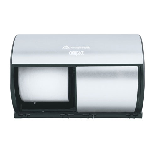 Compact SideBySide 2 Roll Toilet Roll Dispenser SKU#GPC56796, Georgia Pacific Compact SideBySide Double Roll Bathroom Tissue Dispenser SKU#GPC56796