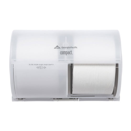 Compact SideBySide 2 Roll Toilet Roll Dispenser SKU#GPC56797, Georgia Pacific Compact SideBySide Double Roll Bathroom Tissue Dispenser SKU#GPC56797