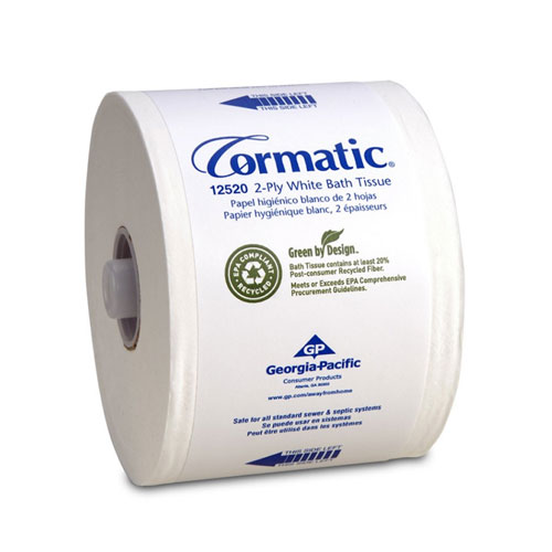 Cormatic 2Ply Embossed EPA Compliant Bathroom Tissue SKU#GPC12520, Georgia Pacific Cormatic 2Ply Embossed EPA Compliant Bathroom Tissue SKU#GPC12520