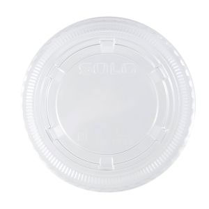 Solo Ultra Clear PET 3.1in Souffles Cup Lids SKU#DA PL4N, Dart Solo Ultra Clear PET 3.1in Souffles Cup Lids SKU#DA PL4N