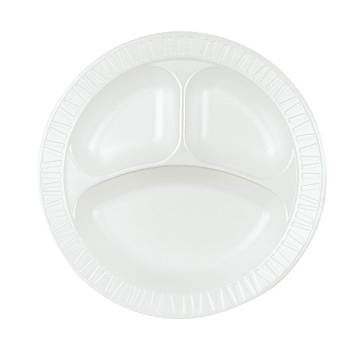 Dart Quiet Classic Laminated Foam Dinnerware SKU#DCC10CPWQ, Dart Quiet Classic Laminated Foam Dinnerware COMPARTMENTALIZED PLATES SKU#DCC10CPWQ