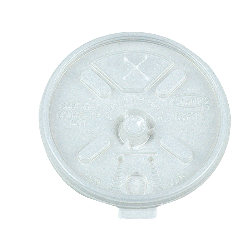 Dart Plastic Lid For Hot-Cold Foam Cup SKU#DCC16FTLS, Dart Plastic Lid For Hot-Cold Foam Cups SKU#DCC16FTLS