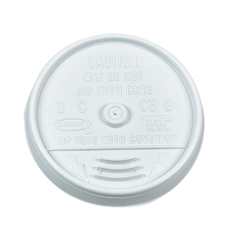 Dart Plastic Lid For Hot-Cold Foam Cup SKU#DCC16UL, Dart Plastic Lid For Hot-Cold Foam Cups SKU#DCC16UL