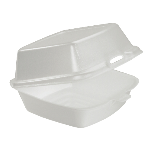 Dart Foam Hinged Lid Carryout Container SKU#DCC50HT1, Dart Foam Hinged Lid Carryout Containers SKU#DCC50HT1