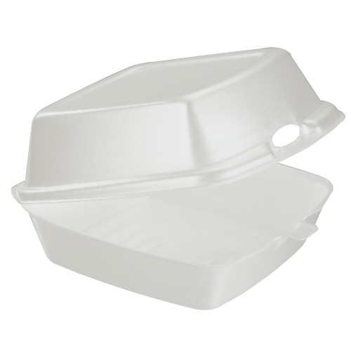 Dart Foam Hinged Lid Carryout Container SKU#DCC60HT1, Dart Foam Hinged Lid Carryout Containers SKU#DCC60HT1