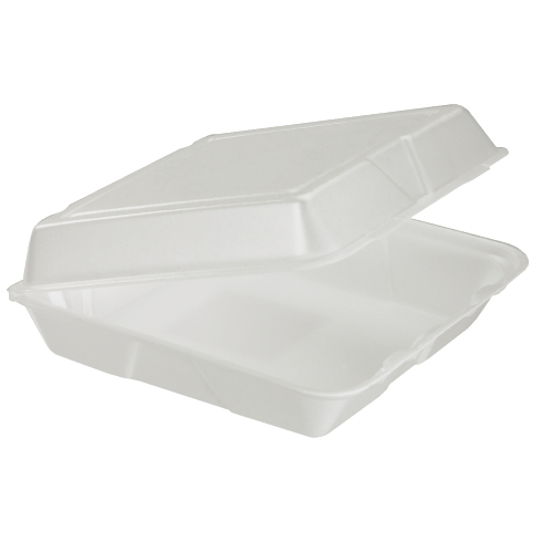 Dart Foam Hinged Lid Carryout Container SKU#DCC95HT1, Dart Foam Hinged Lid Carryout Containers SKU#DCC95HT1