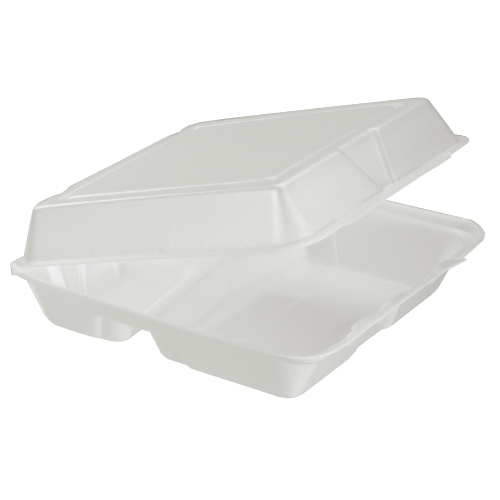 Dart Foam Hinged Lid Carryout Container SKU#DCC95HT3, Dart Foam Hinged Lid Carryout Containers SKU#DCC95HT3