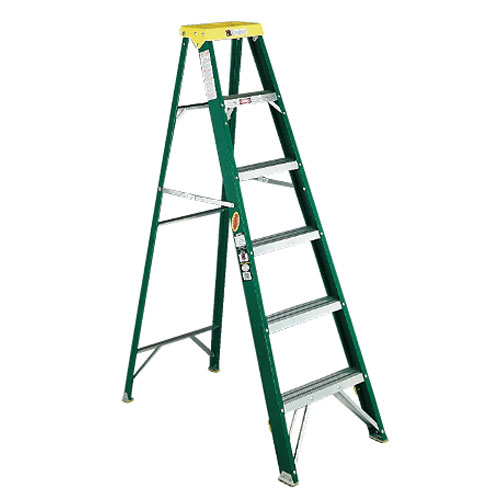 Davidson #592 Six-Foot Fiberglass Commercial Stepladders SKU#DAV592-06BX, Davidson #592 Six-Foot Fiberglass Commercial Stepladder SKU#DAV592-06BX