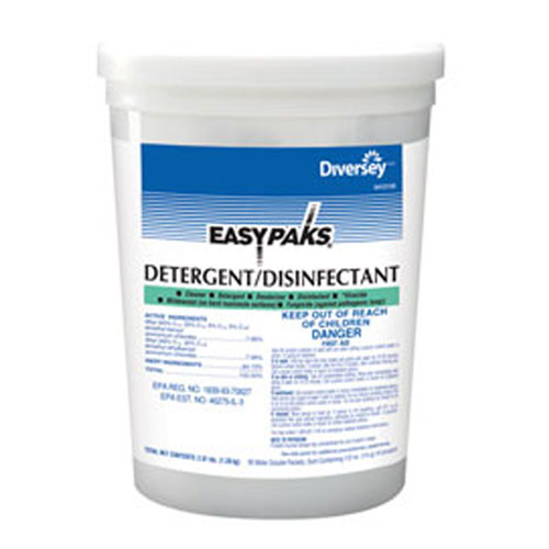 Easy Paks Detergent-Disinfectant Packets SKU#DRK5412135, Diversey Easy Paks Detergent-Disinfectant Packets SKU#DRK5412135