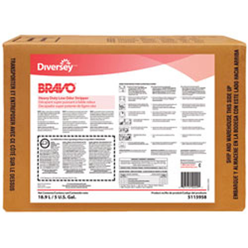 Bravo Heavy Duty Low Odor Floor Stripper 5 Gallon Envirobox SKU#JW5115958, Diversey Bravo Heavy Duty Low Odor Floor Stripper 5 Gallon Envirobox SKU#JW5115958