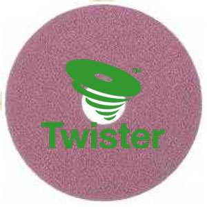 Diversey Twister TM-MC PINK 11in HT Diamond Floor Pads SKU#DIVERSEY-DD7524527, Diversey Twister TM-MC PINK 11in HT Diamond Floor Pads SKU#DIVERSEY-DD7524527