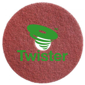 Diversey Twister TM-MC RED 11in Diamond Floor Pads SKU#DIVERSEY-DD5866807, Diversey Twister TM-MC RED 11in Diamond Floor Pads SKU#DIVERSEY-DD5866807