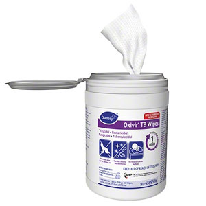 Diversey 6x7in Oxivir Tb Wipes 6x7in 12x 160 Count Canister SKU#Diversey-4599516, Diversey 6x7in Oxivir Tb Wipes 6x7in 12x 160 Count Canister SKU#Diversey-4599516