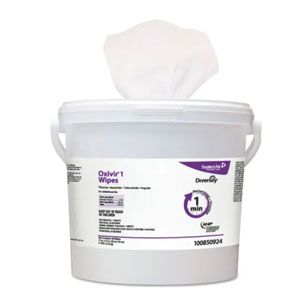 Diversey 11x12in Oxivir 1 Disinfectant Wipes 4x 160 Count Canisters SKU#Diversey-100850924, Diversey 11x12in Oxivir 1 Disinfectant Wipes 4x 160 Count Canisters SKU#Diversey-100850924
