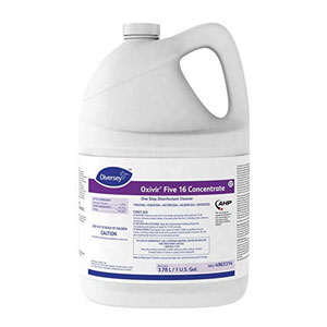 Diversey Oxivir Five 16 Concentrate One Step Disinfectant Cleaner 4x 1Gallon SKU#Diversey-4963314, Diversey Oxivir Five 16 Concentrate One Step Disinfectant Cleaner 4x 1Gallon SKU#Diversey-4963314