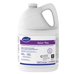 Diversey Oxivir Plus Disinfectant Cleaner Concentrate 4x 1Gallon Containers SKU#Diversey-5919024, Diversey Oxivir Plus Disinfectant Cleaner Concentrate 4x 1Gallon Containers SKU#Diversey-5919024