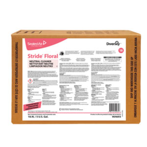 Stride Floral Concentrated Neutral Floor Cleaner 5Gal Envirobox SKU#Diversey-904693, Diversey Stride Floral Concentrated Neutral Floor Cleaner 5Gal Envirobox SKU#Diversey-904693