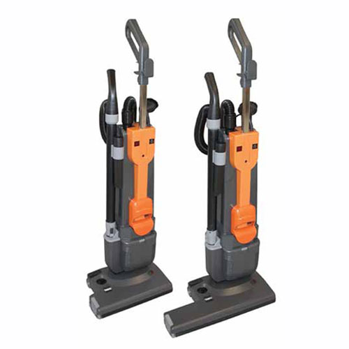 Diversey TASKI jet 38 Upright Vacuum Cleaner SKU#DRK7516263 (Left)and Diversey TASKI jet 50 Upright Vacuum Cleaner SKU#DRK7516264 (Right)