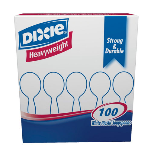 Dixie HeavyWeight Polystyrene Soup Spoon SKU#DIXSH207CT, Dixie HeavyWeight Polystyrene Soup Spoon SKU#DIXSH207CT