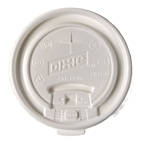 Dixie Lid Tear Back fits 20-24oz Paper Hot Cups SKU#DIXTB9550, Dixie Lid Tear Back fits 20-24oz Paper Hot Cups SKU#DIXTB9550
