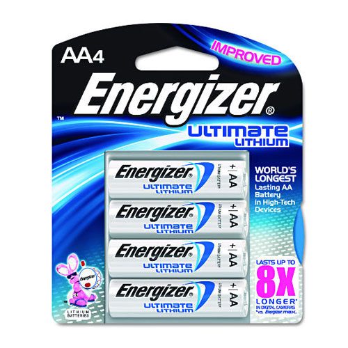 Energizer AA Ultimate Lithium Battery 4 Pack SKU#ENEL91BP4, Energizer AA Ultimate Lithium Battery 4 Pack SKU#ENEL91BP4