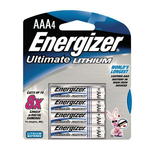 Energizer AAA Ultimate Lithium Battery 4 Pack SKU#ENEL92BP4, Energizer AAA Ultimate Lithium Battery 4 Pack SKU#ENEL92BP4