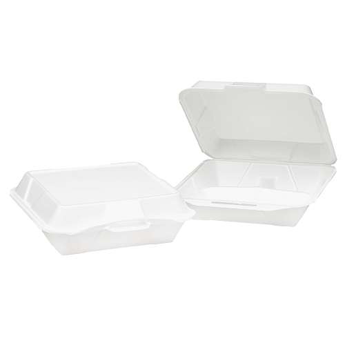 Genpak Foam Hinged Lid Carryout Container SKU#GNPSN203, Genpak Foam Hinged Lid Carryout Containers SKU#GNPSN203