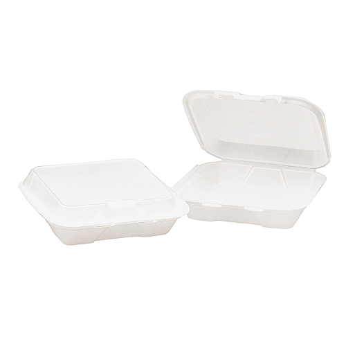 Genpak Foam Hinged Lid Carryout Container SKU#GNPSN220, Genpak Foam Hinged Lid Carryout Containers SKU#GNPSN220