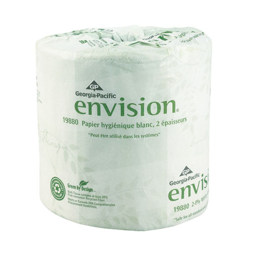 Envision 2Ply Embossed Bathroom Tissue SKU#GPC19880-01, Georgia Pacific Envision 2Ply Embossed Bathroom Tissue SKU#GPC19880-01
