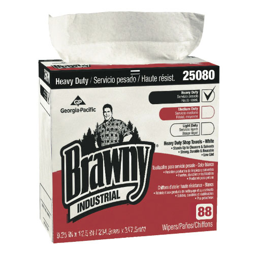 Brawny Industrial Heavy-Duty Shop Towels (Dispenser Box) SKU#GPC250-80-03, Georgia Pacific Brawny Industrial Heavy-Duty Shop Towels (Dispenser Box) SKU#GPC250-80-03