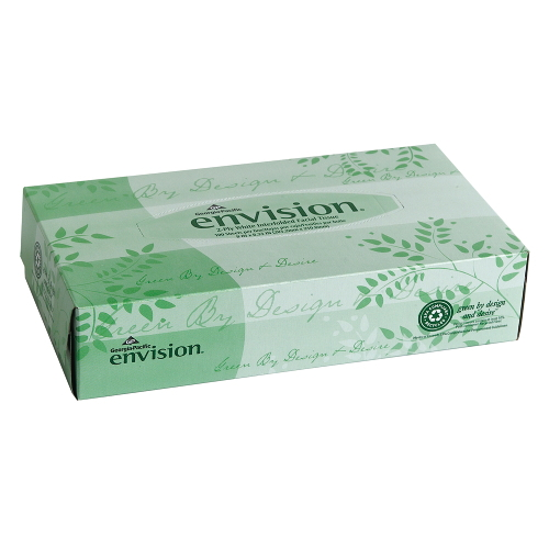 Envision Facial Tissue, Flat Box SKU#GPC47410, Georgia Pacific Envision Facial Tissue, Flat Box SKU#GPC47410