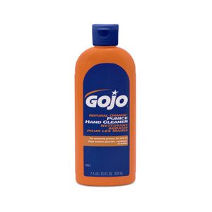 GOJO NATURAL ORANGE Pumice Hand Cleaner SKU#GOJ0951-15, GOJO NATURAL ORANGE Pumice Hand Cleaner 7.5floz Squeeze Bottle SKU#GOJ0951-15