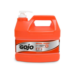 GOJO NATURAL ORANGE Pumice Hand Cleaner 1Gal SKU#GOJ0955-02, GOJO NATURAL ORANGE Pumice Hand Cleaner 1Gal w Pump Dispenser SKU#GOJ0955-02