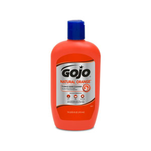GOJO NATURAL ORANGE Pumice Hand Cleaner 14floz SKU#GOJ0957-12, GOJO NATURAL ORANGE Pumice Hand Cleaner 14floz Bottle SKU#GOJ0957-12