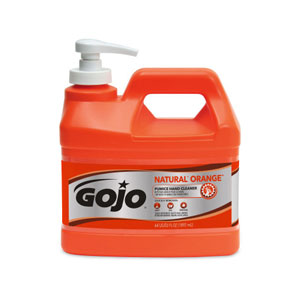 GOJO NATURAL ORANGE Pumice Hand Cleaner SKU#GOJ0958-04, GOJO NATURAL ORANGE Pumice Hand Cleaner .5Gal w Pump Dispenser SKU#GOJ0958-04