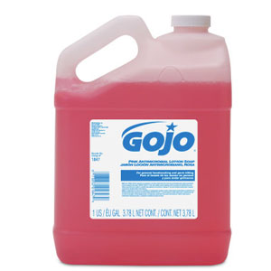 GOJO Pink Antimicrobial Lotion Soap Bulk Pour Gal SKU#GOJ1847-04, GOJO Pink Antimicrobial Lotion Soap Bulk Pour Gal SKU#GOJ1847-04