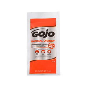 GOJO NATURAL ORANGE Pumice Hand Cleaner Packets 40ct SKU#GOJ2330-01, GOJO NATURAL ORANGE Pumice Hand Cleaner 0.5floz Packets 40ct Case SKU#GOJ2330-01